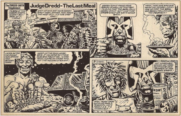 This grudging (or should that be grudding?) apology to the Green Giant featured in a later issue of 2000AD