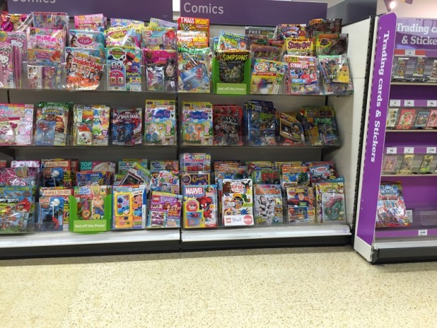 Sainsbury's Lancaster Comics Shelves - 3rd October 2015 (2)