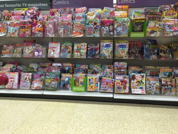 Sainsbury's Lancaster Comics Shelves - 3rd October 2015 (1)