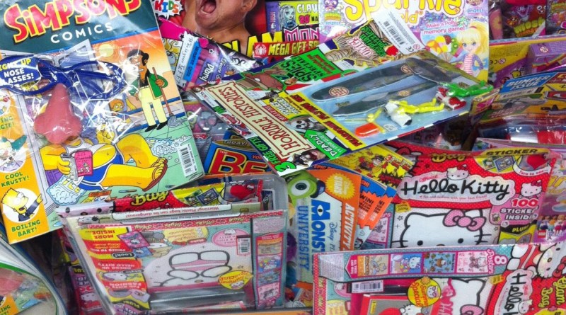 News stand chaos in the comics section, August 2013. Photo: Alexander Matthews