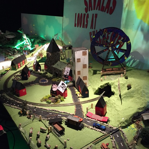 The team behind VIZ comic and Kendal College students have created a model railway version of Fulchester for the Festival.