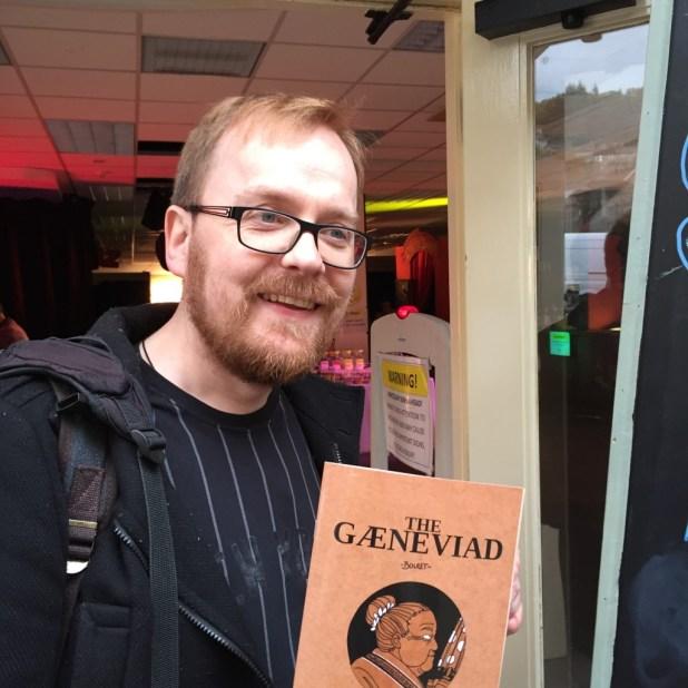 French comic artist Boulet at the Lakes International Comic Art Festival 2015