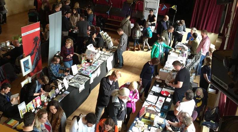 Enthusiastic comic fans mix with equally enthused comic creators in the Comics Clock Tower at the 2015 Lakes International Comic Art Festival. Photo: John Freeman
