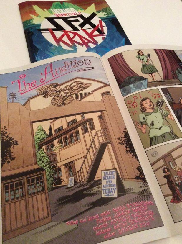 """Jessica Martin makes her DC Comics debut in Vertigo Quarterly SFX #3  with """"The Audition"""". Photo courtesy Mark Buckingham"""