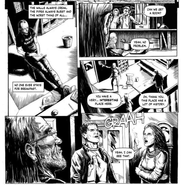 "Extract from ""Monsters In The Motel"" written by Mike Lynch, artwork by Steve Austin"