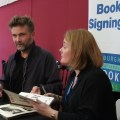 Barroux and Sarah Ardizzone sign copies of Line Of Fire at the 2014 Edinburgh International Book Festival. Photo: Jeremy Briggs