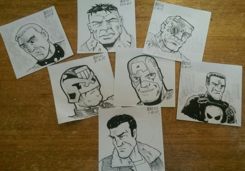 Bonus sketches by Bolt-01 for those of you who buy big at the FQP Thought Bubble table