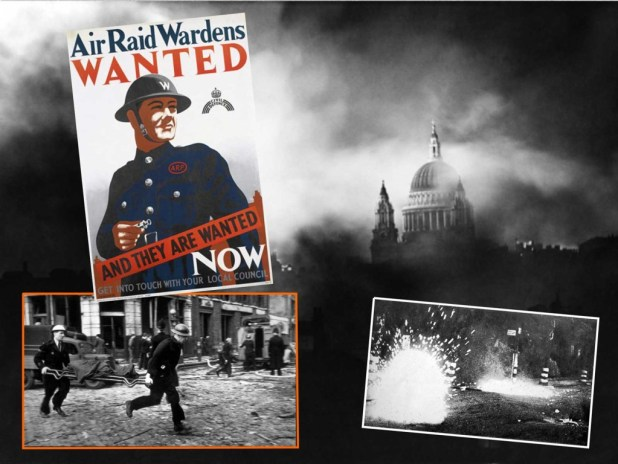 Incendiary bombs and Air Raid Wardens