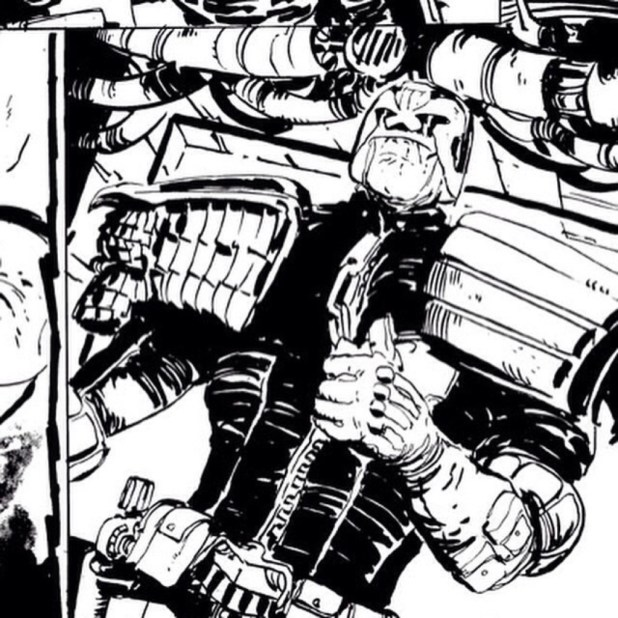 Judge Dredd Mega-City Zero Work in Progress by Dan McDaid