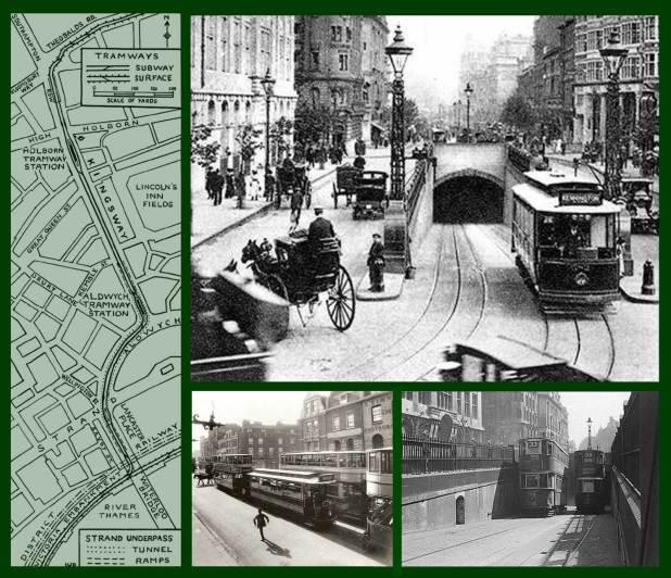 The Trams under Kingsway, London