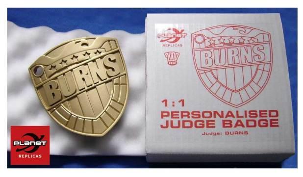 2000AD Personalised Judge Badge