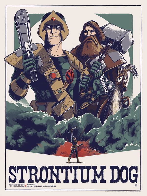 Strontium Dog by Matt Ferguson - Vice Press Poster