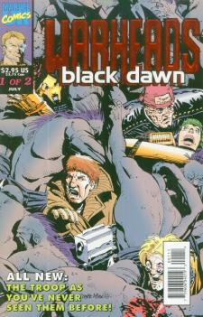 Warheads Black Dawn #1, a mini series written by Craig Huston, drawn by Charlie Adlard for Marvel UK