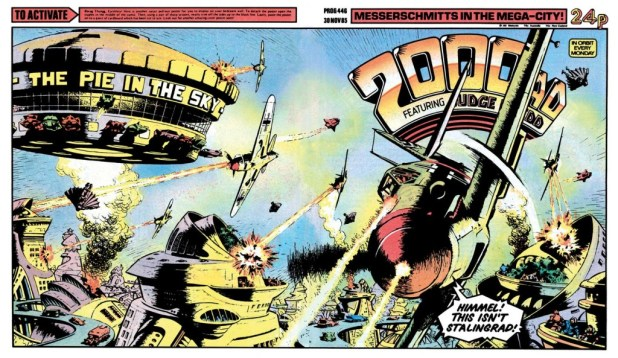 2000AD Prog 446 by Ian Kennedy
