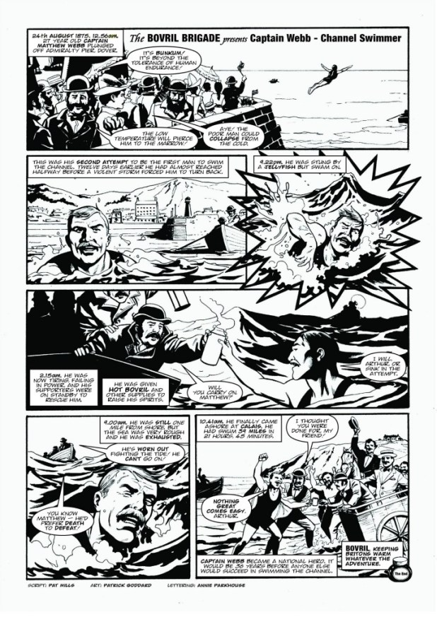 The story of Captain Webb, brought to the page by Pat Mills, Patrick Goddard and Annie Parkhouse