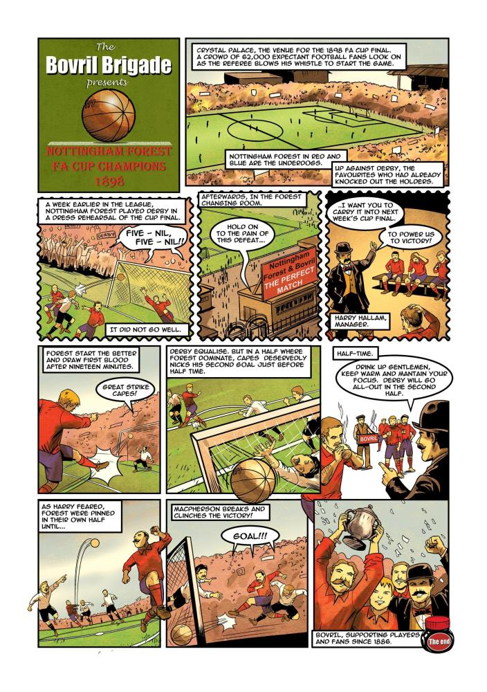 How Nottingham Forest swapped half-time oranges for Bovril in this strip drawn by Andrew Chiu