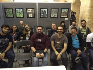 The audience for my small but perfectly formed comics editing panel on Sunday.