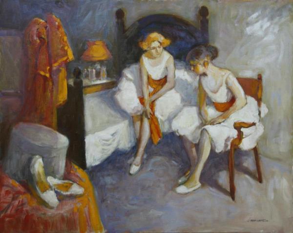 One of Luis Bermejo's oil paintings