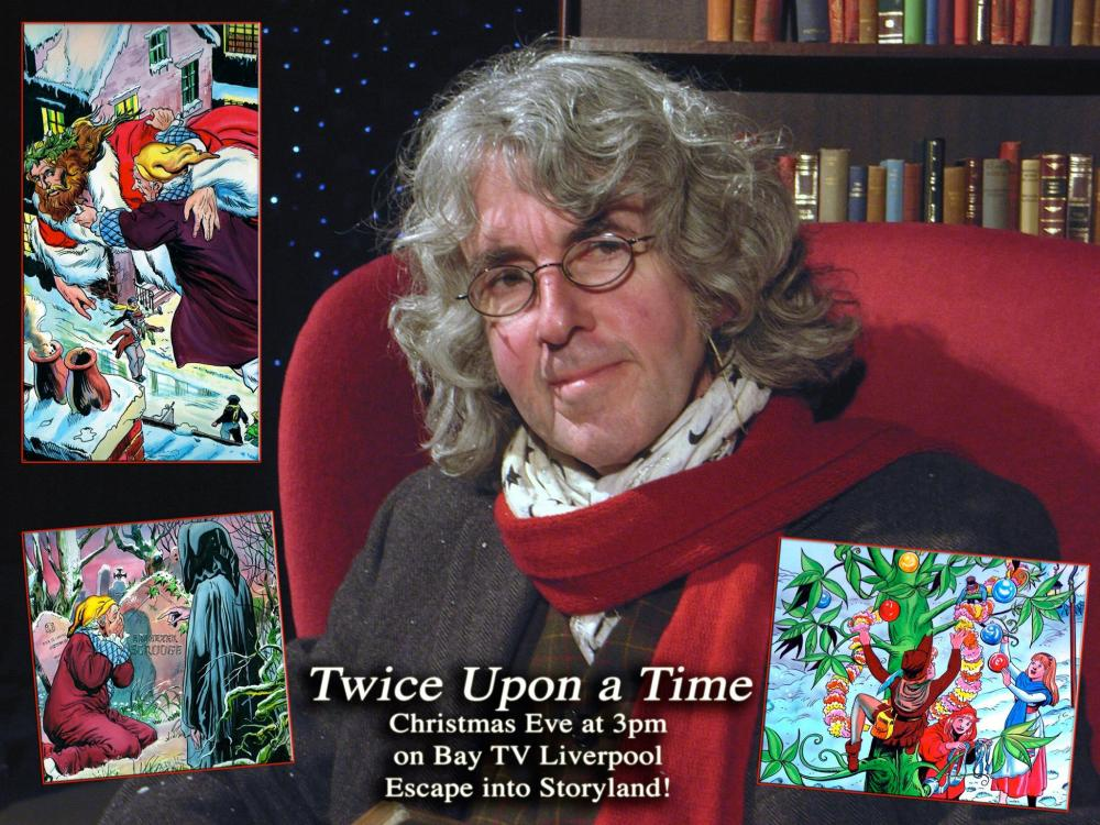 Comic creator Tim Quinn in the Twice Upon A Time Christmas 2015 Special, screened by Bay TV Liverpool. Photo courtesy Tim Quinn