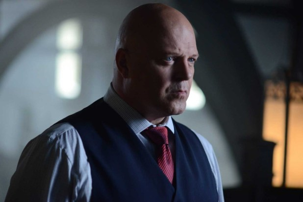 "Michael Chiklis as Captain Nathaniel Barnes in the Gotham Season 2 episode  ""Strike Force"""