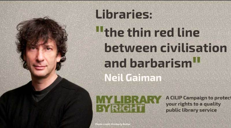 Neil Gaiman has joined the campaign to protect Britain's libraries from further closures