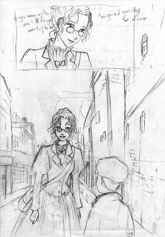 """Some of Jenika's pencils for her new """"Midnight Tea"""" title"""