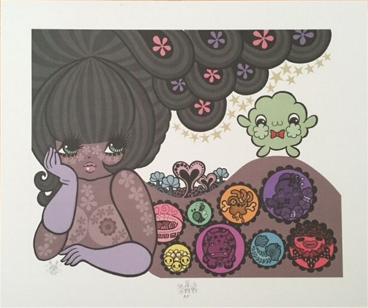 "Junko Mizuno ""Little Fluffy Gigolo"" Pelu Artist Proof"