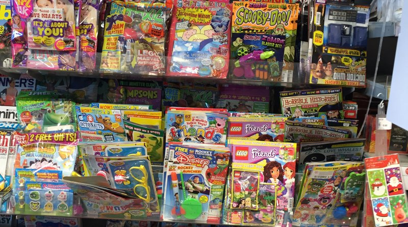 Comics on sale in Booths, Garstang on 9th February 2016