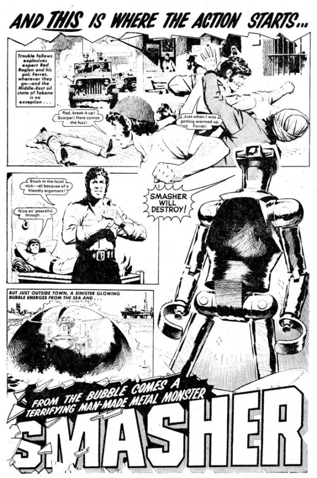 """The Smasher"" from Bullet Issue One, drawn by Ian Kennedy"