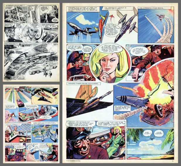 Some pages of Frank Hampson's Lady Penelope' art