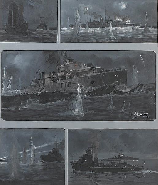 GHD ILN 13 Aug 1949 HMS Amethyst Original Artwork
