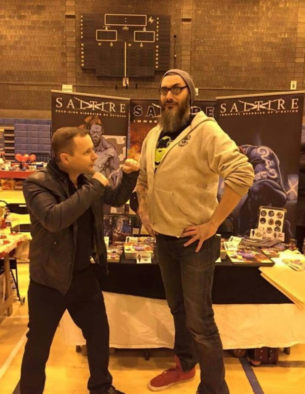 John Ferguson and James McCulloch, members of the Scottish Comic Creators Football Club at Capital Sci-Fi Con 2016