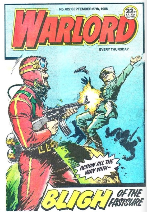 Warlord 627 - cover dated 27 September 1986