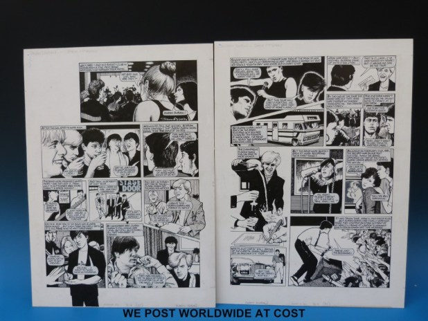 "The ""Duran Duran"" strip from Look-In Issue 50, by Steve McGarry"