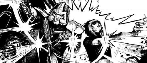 Strontium Dog - The Scowl And The Pussycat by writer Matt Sharp and artist Neil Sims