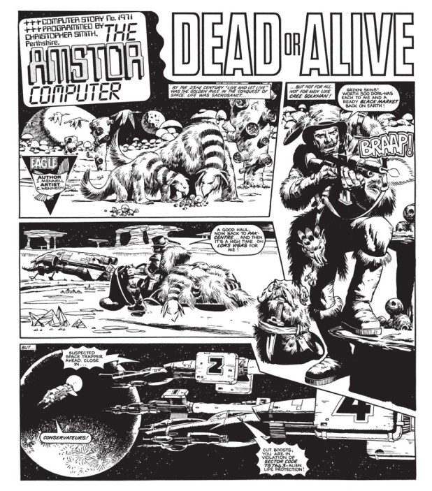"""""""The Amstor Computer - Dead or Alive"""", written by Ian Mennell, art by Cam Kennedy"""