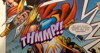 A dramatic panel from Jon - Hulk versus Thor!