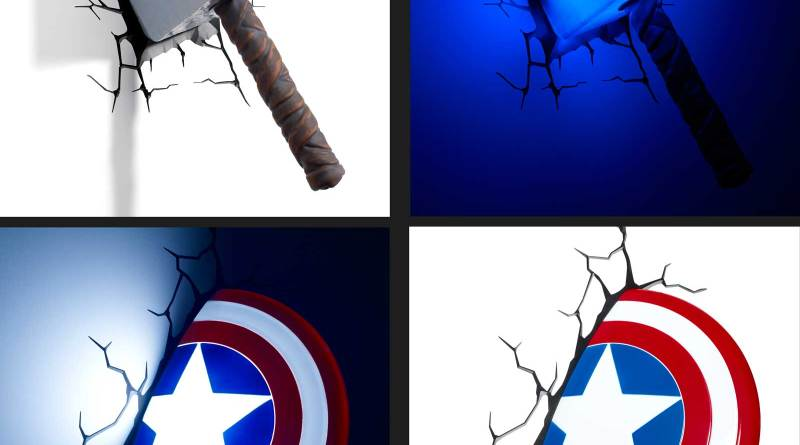 Captain America and Thor 3D Light FX Images courtesy RED5