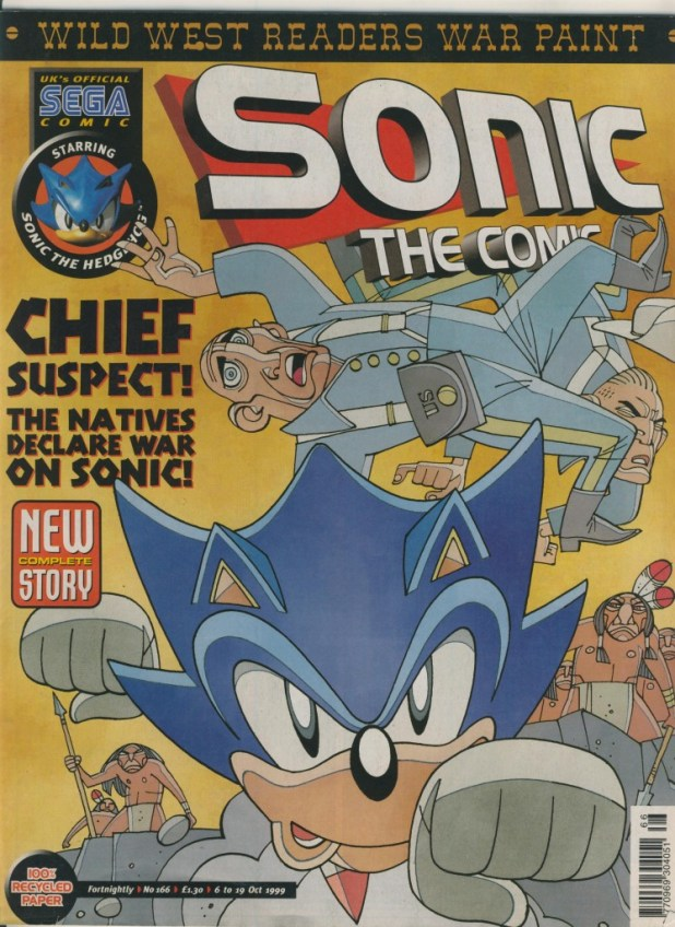 One of Mick McMahon's covers for Sonic the Comic