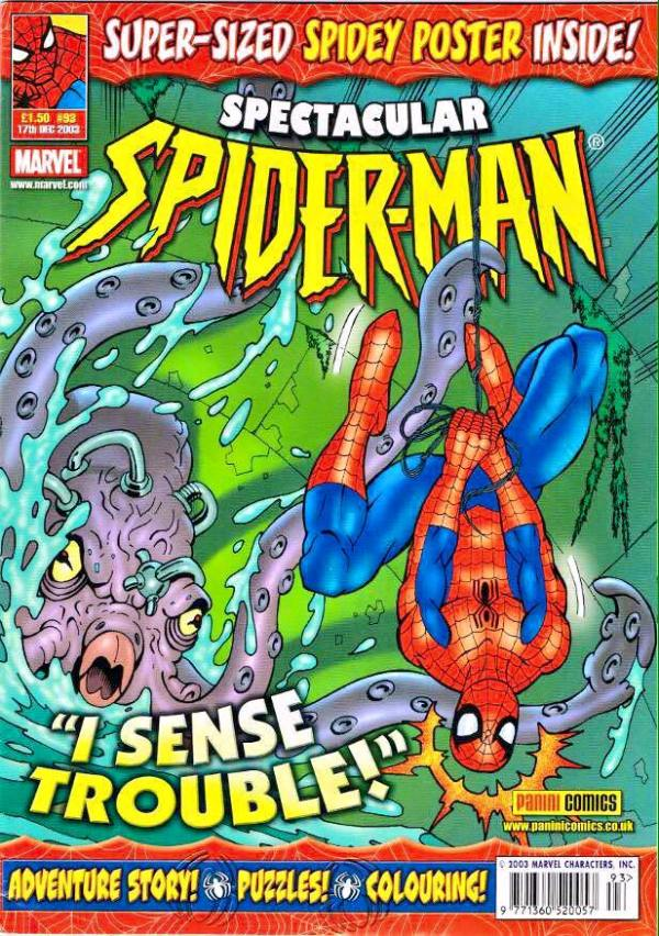 The cover of Spectacular Spider-man #93 by Jon Haward