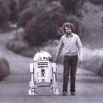 Tony Dyson walking R2-D2