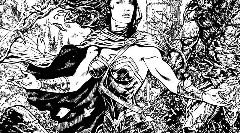 "A crop of a panel from one of Liam's first batch of pages from the 'Rebirth' Wonder Woman. ""I'm having an absolute ball with this,"" says the former Marvel UK artist and current Madefire digital comics exec. Wonder Woman © DC"