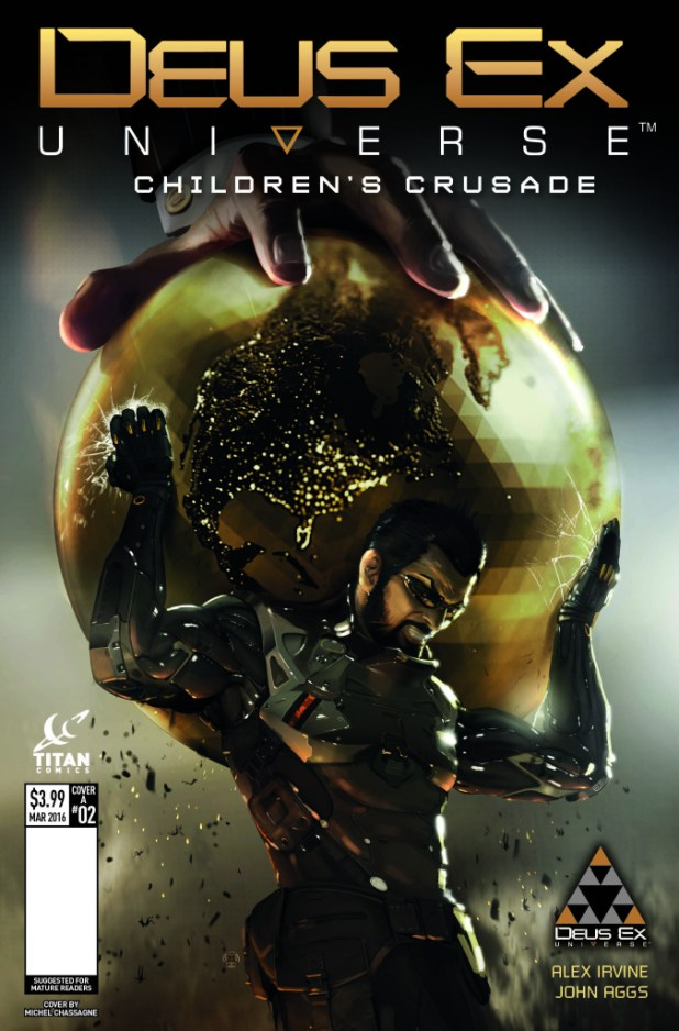 Deus Ex #2 Cover A by Johann Schepacz