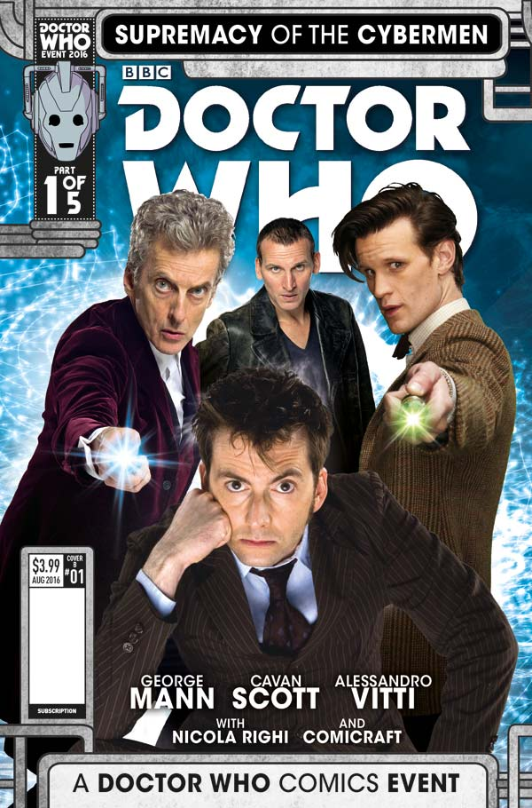 Doctor Who Event 2016: Supremacy of the Cybermen #1 Cover B by Will Brooks