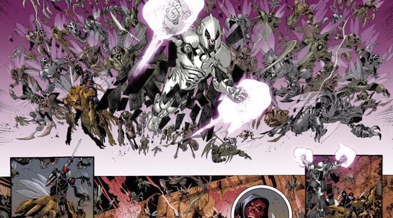 A stunning spread from Marvel's Red Skull mini series by Luca Pizzari