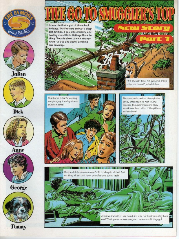 Comic strip for Enid Blyton Mystery and Suspense Magazine