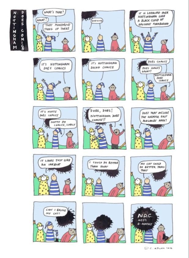 Nottingham Does Comics Promotional art by C. Adlam