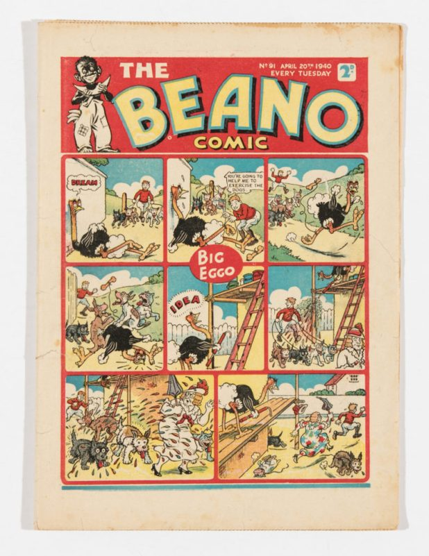 Beano Issue 91 (1940). A propaganda war issue. Lord Snooty and Pals repel Nazi invasion!