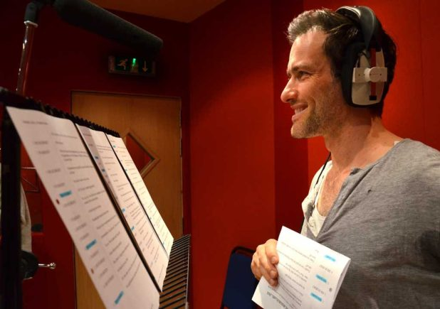 Ed Stoppard during recording of the Dan Dare audio adventures last week.