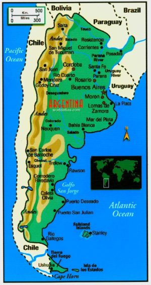 Map of Argentina